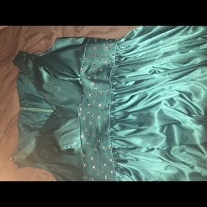Turquoise Prom Dress Ball Gown